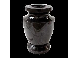 Vase funéraire Ancien noir fin