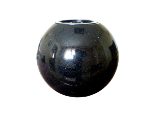 Vase funéraire boule noir fin