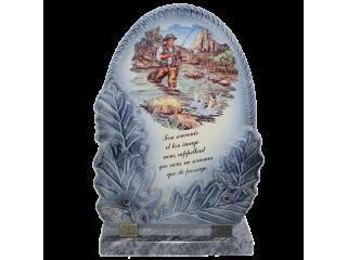 Plaque funeraire céramique G40