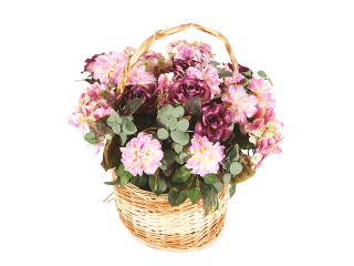 Panier fleuri 3A