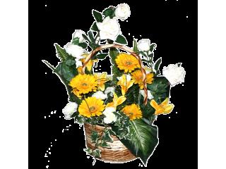 Panier fleuri 2A
