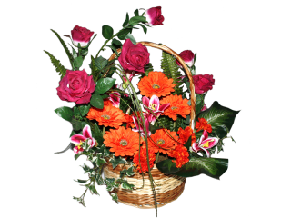 Panier fleuri 2B