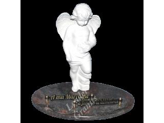 Plaque funéraire ange...