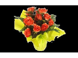 Bouquet bulle roses 7A