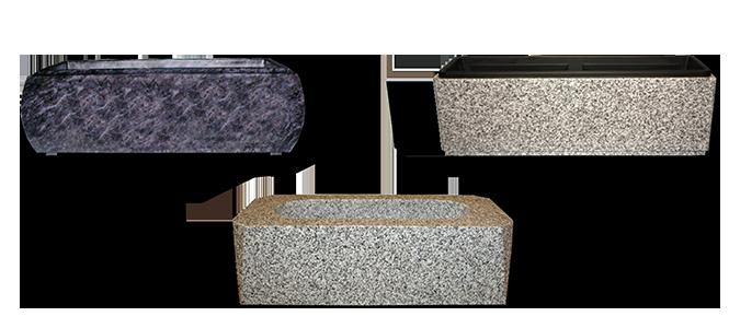 Image réprésentative de la catégorie Jardinière funéraire en granit