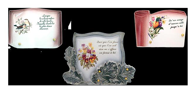 Image réprésentative de la catégorie Plaque funéraire céramique